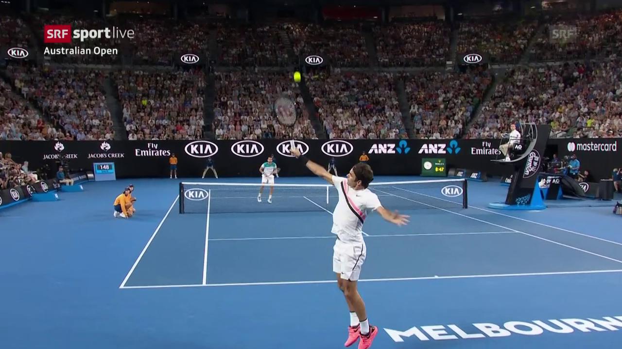 Federer wehrt sich sehenswert
