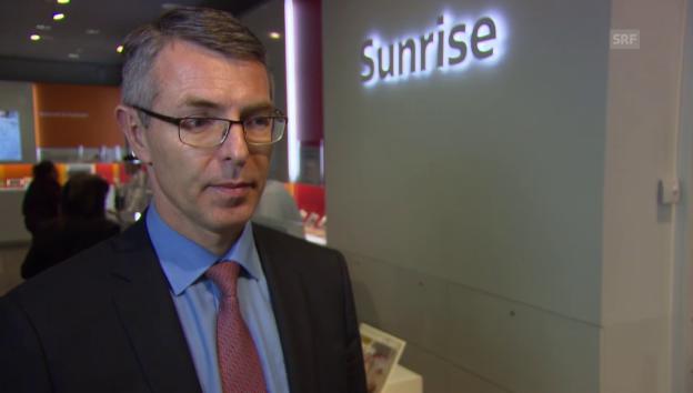 Video «Für Sunrise-CEO Libor Voncina ist eine Fusion mit Orange derzeit kein Thema» abspielen