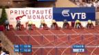 Video «Leichtathletik: Diamond League Monaco, 110 m Hürden der Männer» abspielen