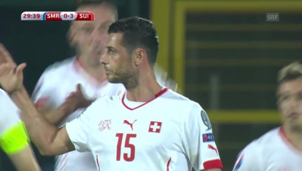 Video «Fussball: San Marino-Schweiz, Live-Highlights» abspielen