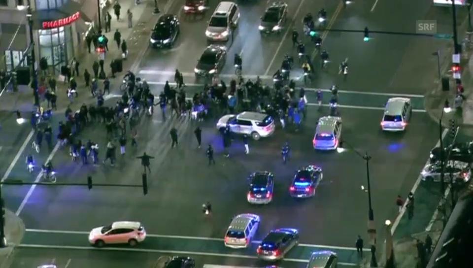 Proteste Chicago: Stimmung entlädt sich in Rangelei