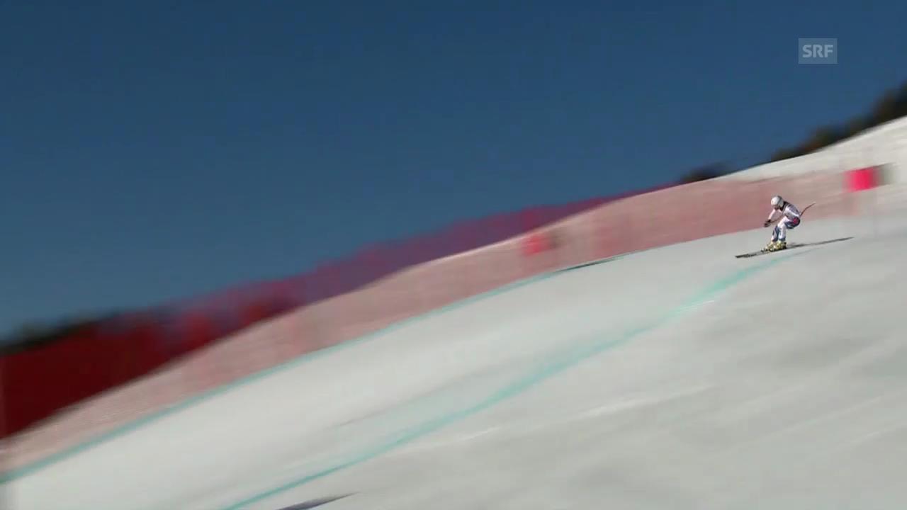 Ski: Schweizermeisterschaften auf der Fiescheralp, Abfahrt der Frauen