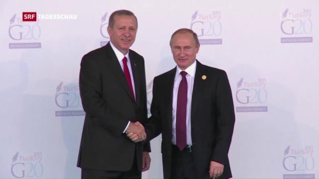 Video «Attacke auf Europa: Erdogan trifft seinen «Freund» Putin» abspielen