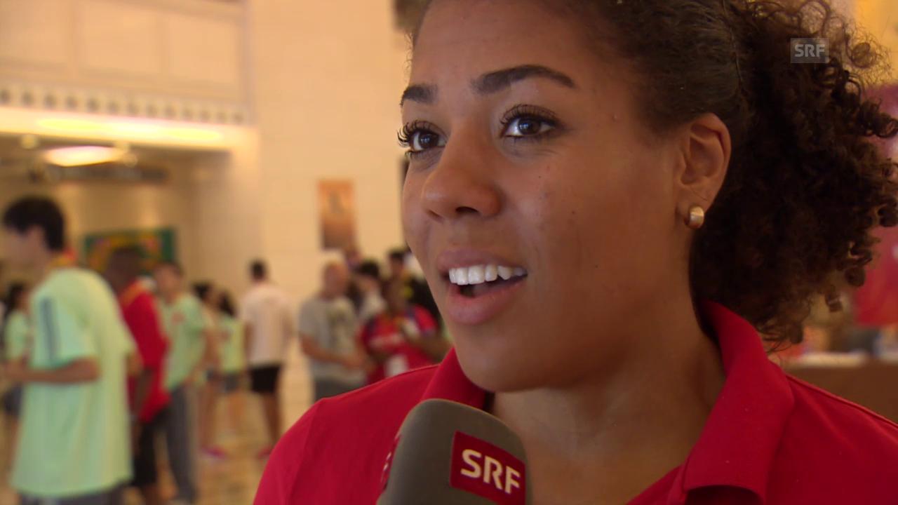 Leichtathletik: WM Peking, Interview Kambundji