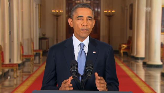Video «Obama zu Syrien (Engl.): Gründe für den Einbezug des US-Kongresses» abspielen