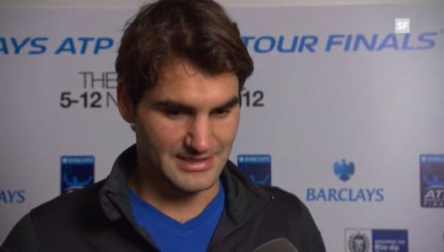 Video «Tennis: Federer zum Final gegen Djokovic» abspielen