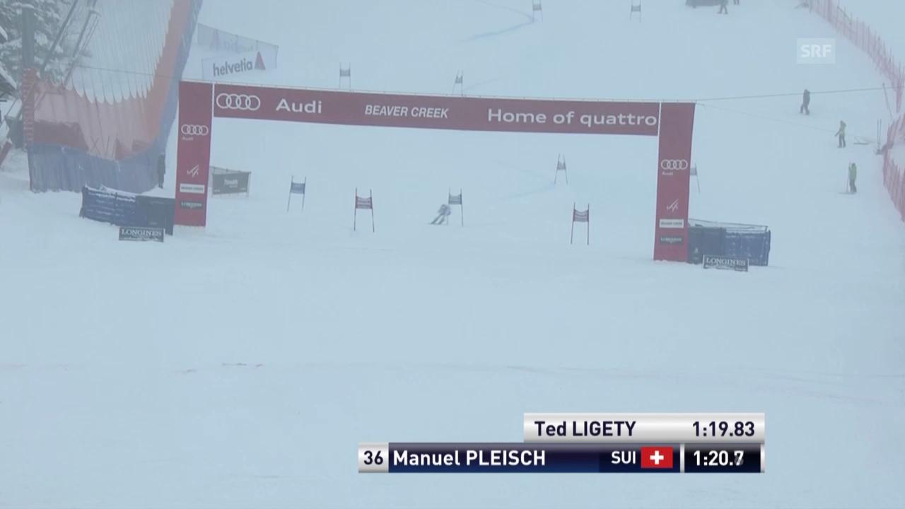 Ski: Manuel Pleischs 1. Lauf beim RS in Beaver Creek