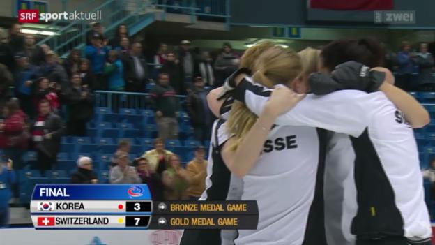 Video «Curling: Frauen-WM in St. John, Halbfinal» abspielen