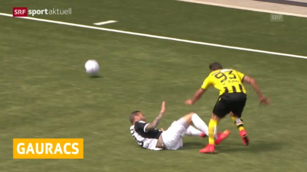 Video «Fussball: Gauracs fällt lange aus» abspielen