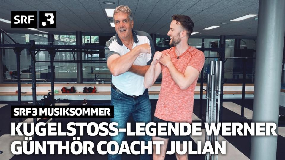 Kugelstoss-Legende Werner Günthör coacht Julian