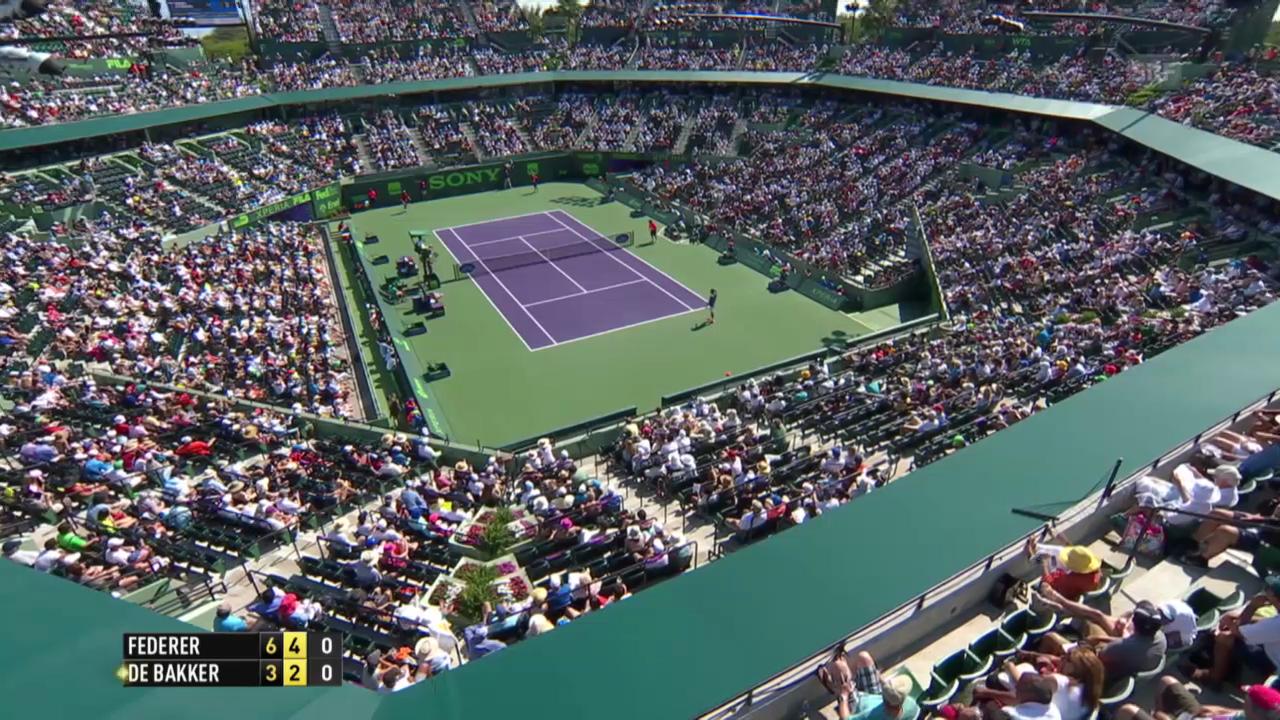 Federers Zauberschlag gegen De Bakker