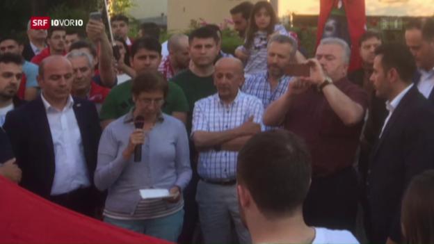 Video «Erdogan-Anhänger hetzen in der Schweiz» abspielen