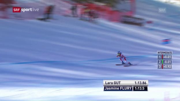 Video «Jasmine Flury braust auf den 11. Rang» abspielen