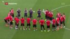 Video «Optimistische Schweizer Fussballer» abspielen