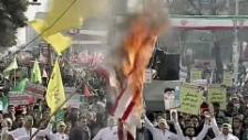 Video «Brennende US-Flagge gehört zu Irans Festkultur» abspielen