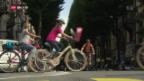 Video «Velofahrer verschaffen sich Gehör» abspielen