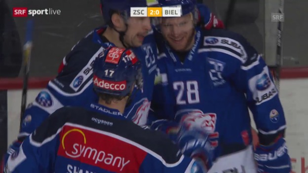 Video «Eishockey: Playoff, 1/4, Game 5, ZSC-Biel» abspielen