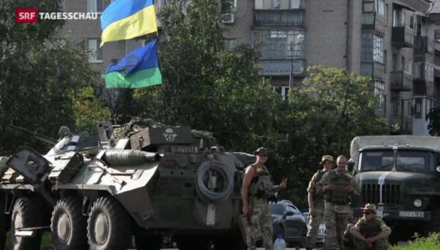 Video «Ukrainische Armee erobert Städte zurück» abspielen