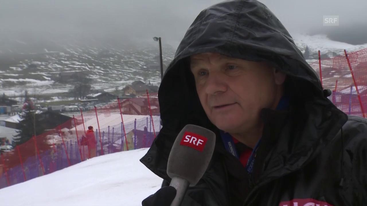 Adelboden-Rennleiter Hans Pieren äussert sich zur Absage in Adelboden