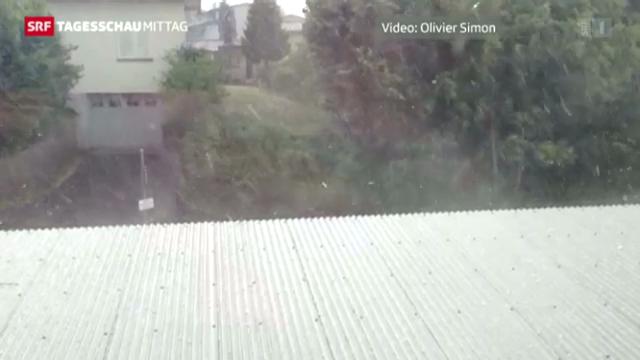 Hagelsturm zieht über die Schweiz