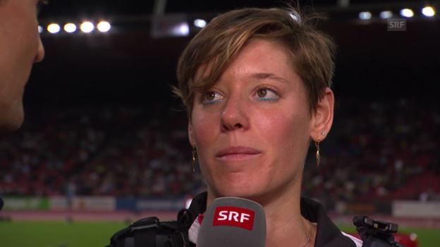 Video «LA-EM: Weitsprung Frauen, Interview mit Irène Pusterla» abspielen