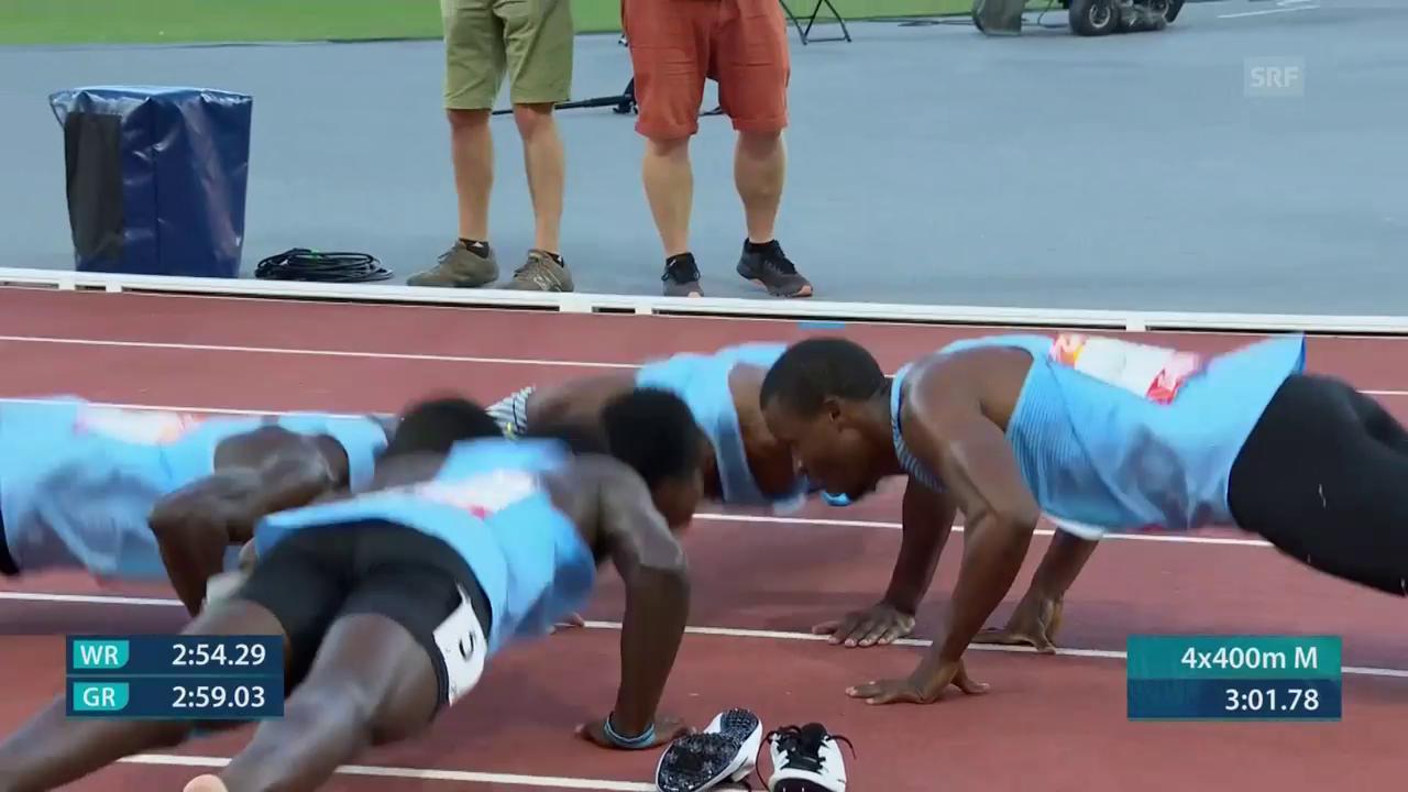Liegestützen-Performance von Botswanas Staffel