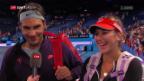 Video «Federer ist voll des Lobes für Bencic» abspielen