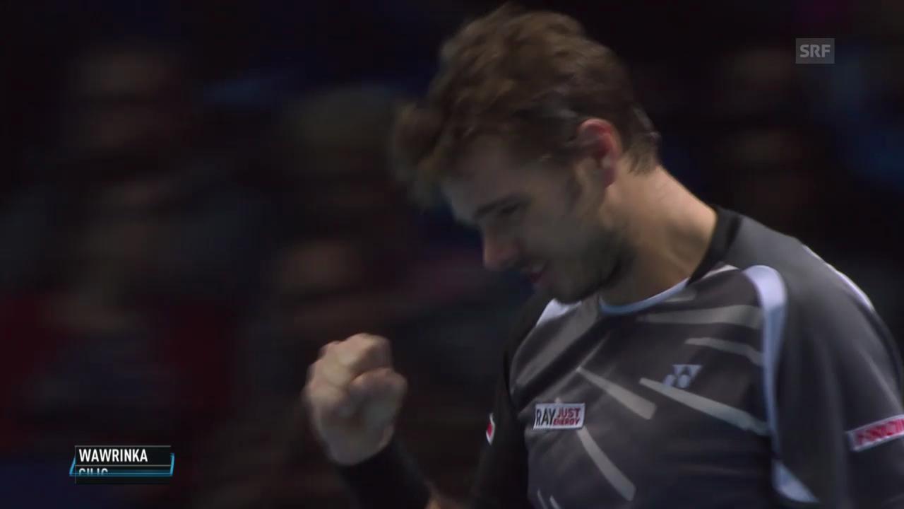 Tennis: ATP Finals, Wawrinka - Cilic: Die wichtigsten Punkte