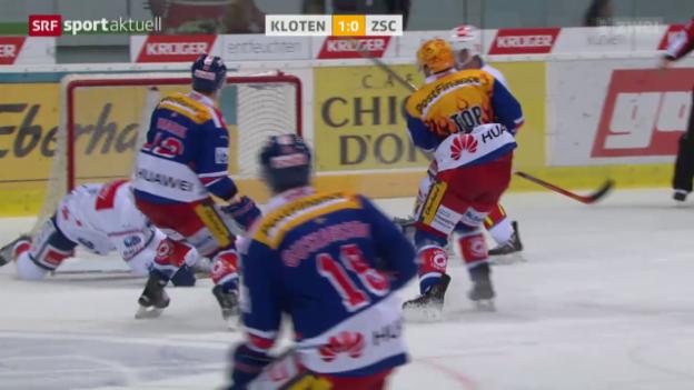 Video «Eishockey: Kloten Flyers-ZSC Lions» abspielen
