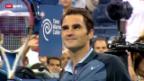Video «Tennis: Federer am US Open im Achtelfinal» abspielen