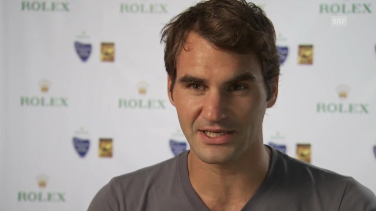 Tennis: Interview mit Roger Federer (englisch)