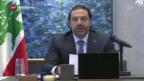 Video «Libanesischer Ministerpräsident Hariri tritt zurück» abspielen