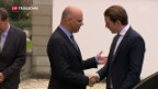 Video «Österreichs Kanzler Kurz auf Visite in Bern» abspielen