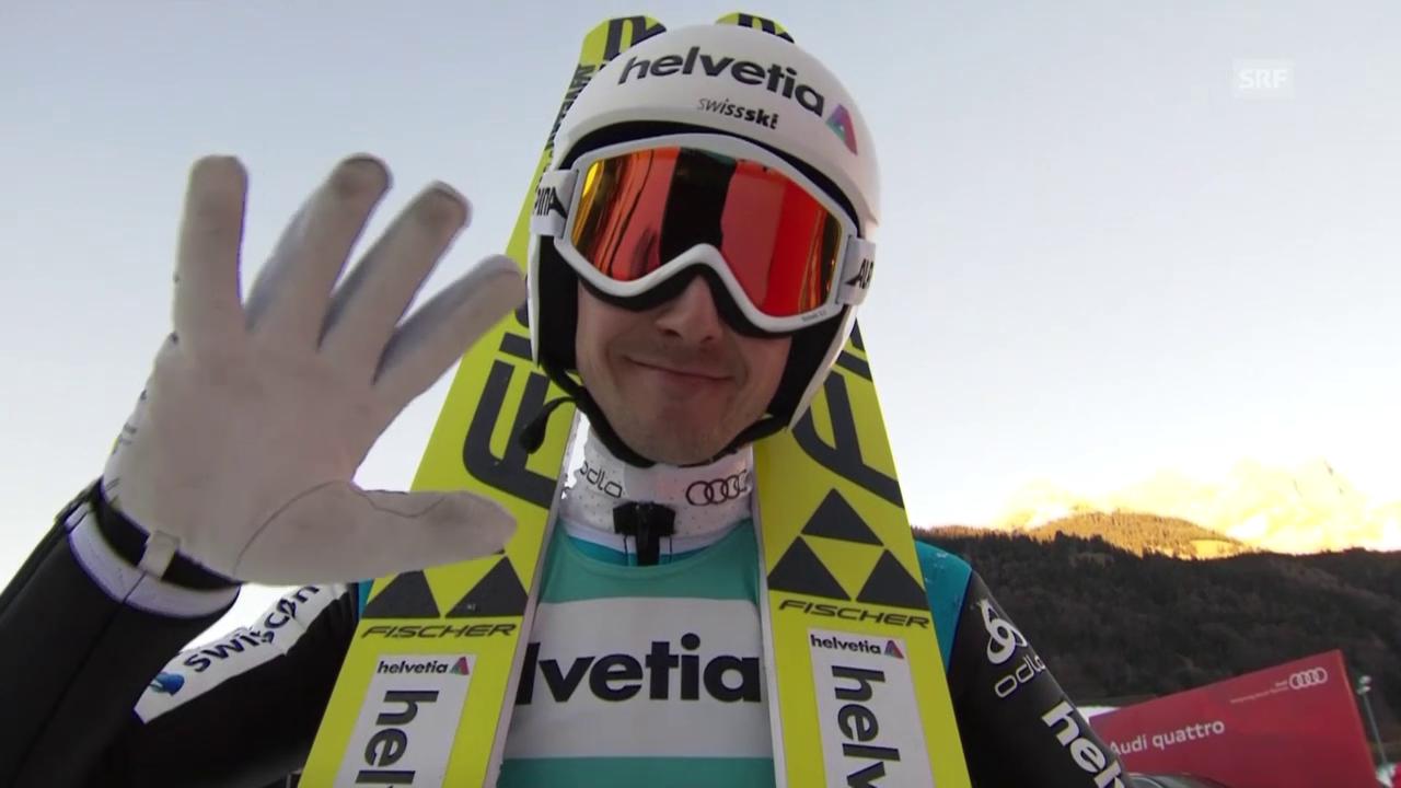 Skispringen: Engelberg, 20.12.2015, Simon Ammann 2. Sprung
