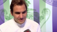 Video «Federer: «Gegen Cilic wird es Service, Volley, bumm, bumm»» abspielen