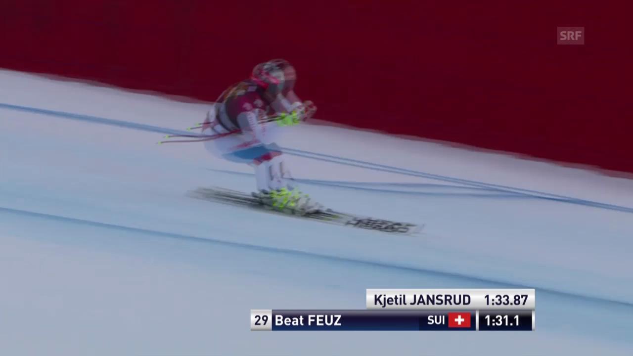 Ski alpin: Super-G in Gröden, Beat Feuz