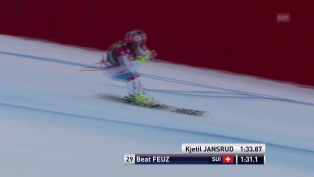 Video «Ski alpin: Super-G in Gröden, Beat Feuz» abspielen