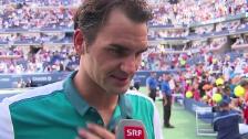Video «Tennis: US Open 2015, 3. Runde, Federer - Kohlschreiber» abspielen