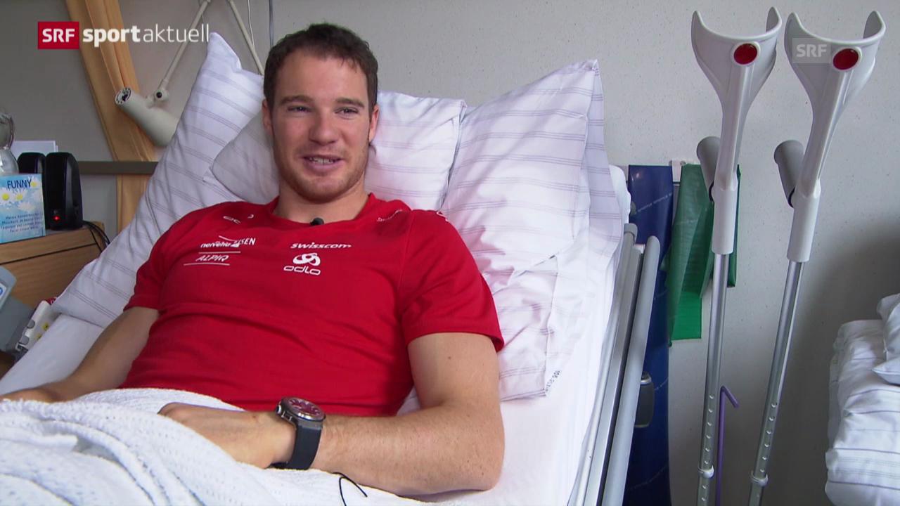 Dario Cologna nach der Operation