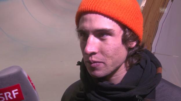Video «Snowboard: Freestyle-WM in Kreischberg, Final Halfpipe, Interview mit Christian Haller» abspielen