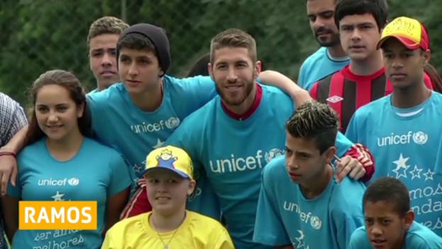 Video «Fussball: Sergio Ramos wird Unicef-Botschafter» abspielen