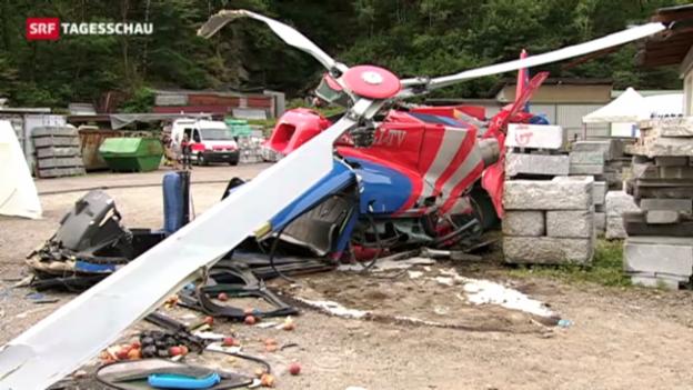Video «Helikopter-Absturz im Tessin» abspielen