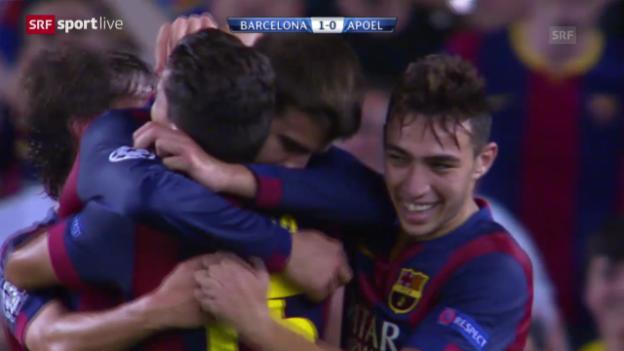 Video «Fussball: Champions League Gruppenphase, Barcelona - Apoel Nikosia» abspielen