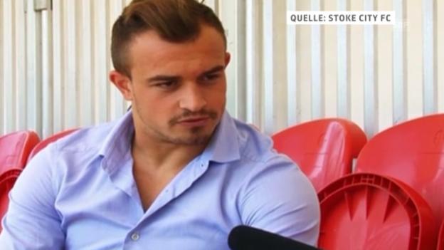 Video «Fussball: Xherdan Shaqiri über Stoke City» abspielen