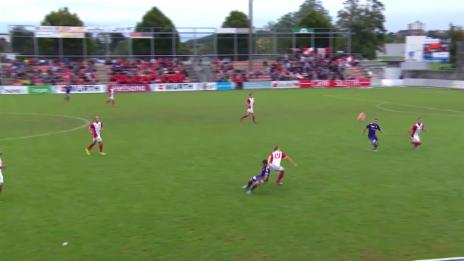 Video «Fussball: Schweizer Cup, 1. Runde: Solothurn - Thun, Tor Frontino 0:2» abspielen