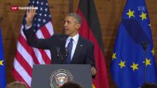 Video «Abschluss von Obamas Europa-Besuch» abspielen