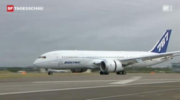 Video «Neue Riesen-Boeing «Dreamliner »» abspielen