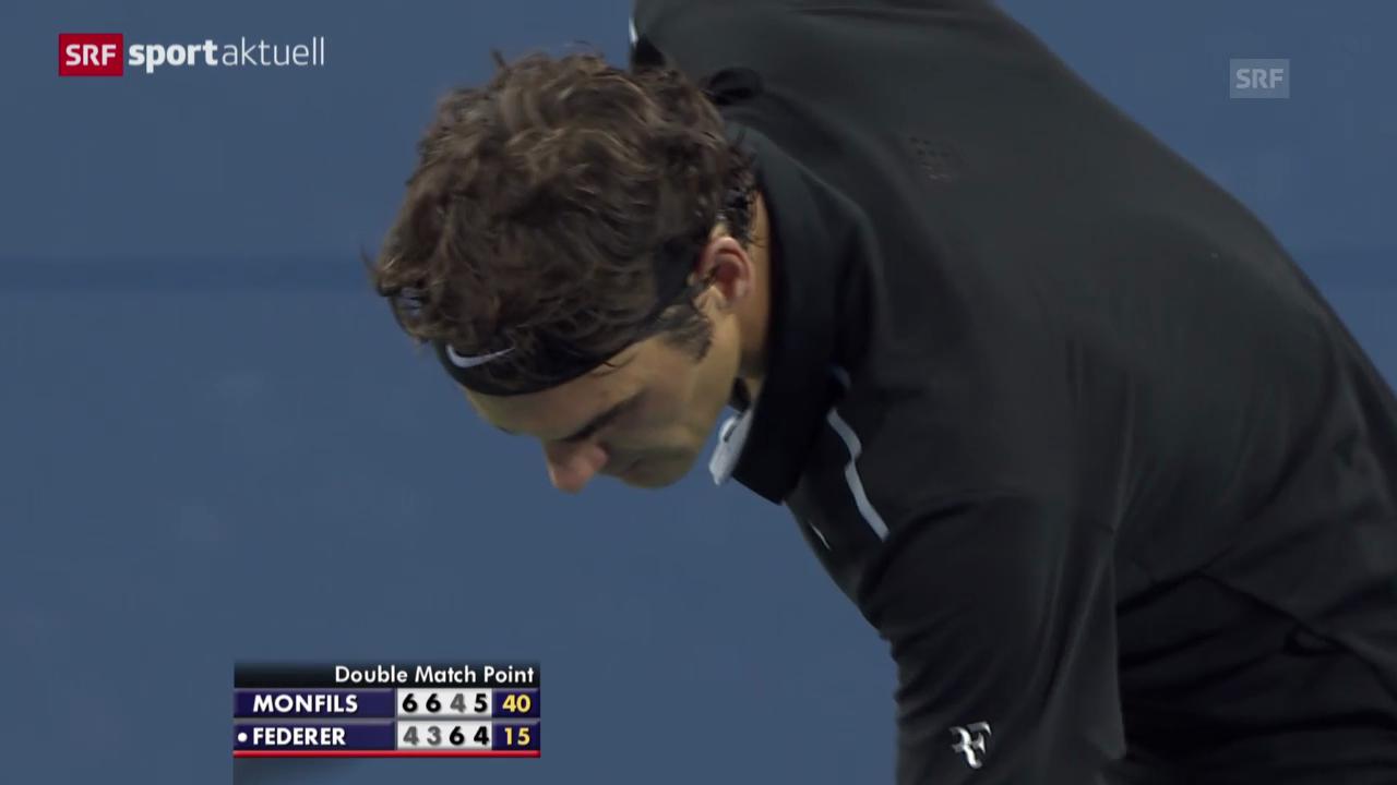 Tennis: US Open, Federer steht im Halbfinal