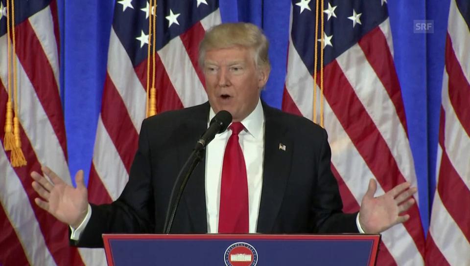 DIe ganze Medienkonferenz von Trump