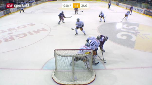 Video «Eishockey: NLA, Genf - Zug» abspielen